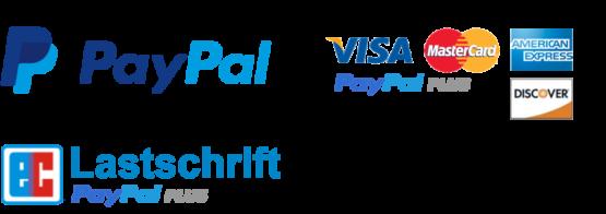 Zahlungsarten Paypal, Paypal Kreditkarte, Paypal Lastschrift