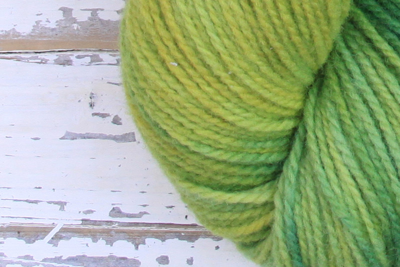 German Merino Onion Indigo Grass zoom