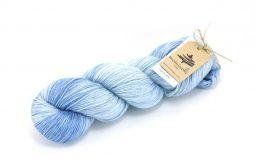 RAMIE SILK Natural - Indigo Sky Blue