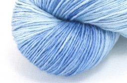RAMIE SILK Natural - Indigo Sky Blue zoom