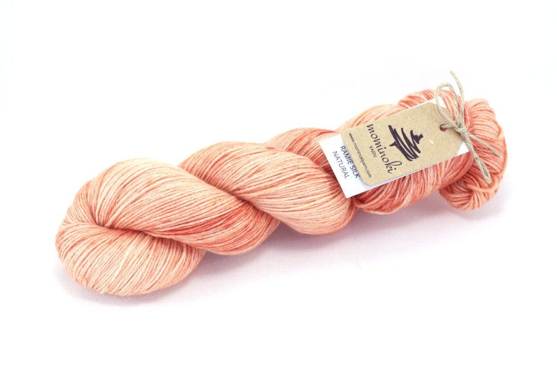 RAMIE SILK Natural - Madder Pink