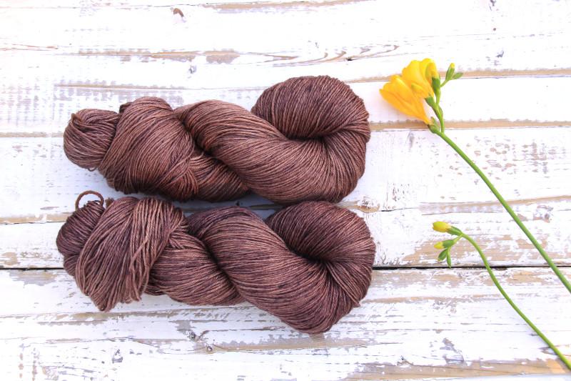 Ramie Silk Natural Chocolate Brown
