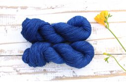 Ramie Silk Natural Deep Blue