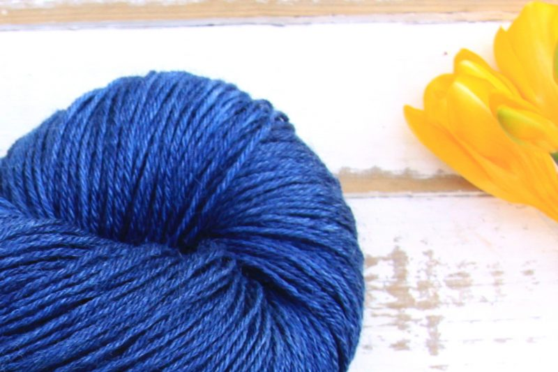 Ramie Silk Natural Deep Blue zoom