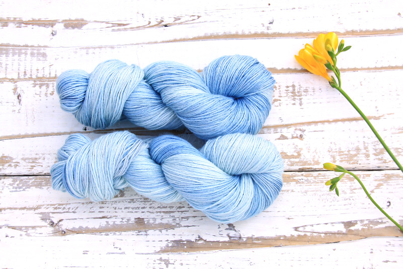 Ramie Silk Natural Sky Blue