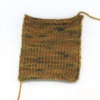 SOCK FINE 4ply Rust Patch