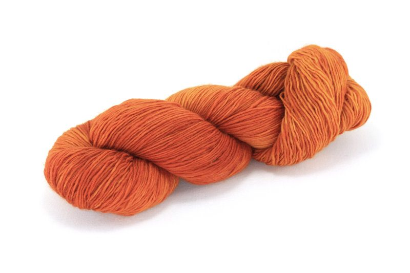 MERINO SINGLE Fingering Orange Cosmos