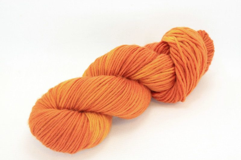 MERINO SINGLE Worsted Orange Cosmos