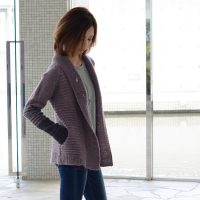 Winter Highway Cardigan short - Lac - Smoky Lilac