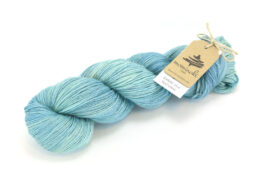 RAMIE SILK NATURAL - Indigo Mint
