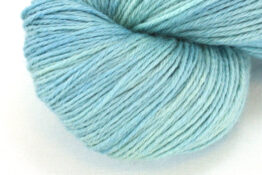 RAMIE SILK NATURAL - Indigo Mint zoom