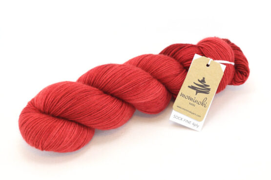 SOCK FINE 4ply - Carmine Red