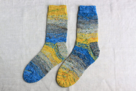 Berlin Socks Kit - Fade A knitting example