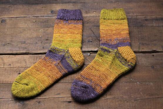 Berlin Socks Kit - Fade E knitting example